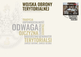 POLAND 2021 Territorial Defense Forces, Soldier, Military, Militaria, Polish Armed Forces FDC Cover - FDC