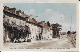 Saint Leger Des Vignes Rue Nationale Vue Du Cafe Du Centre Carte En Bon état - Other Municipalities