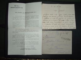 LETTRE OBL.MEC.15 X 1939 PARIS GARE DU NORD + TROUVE A LA BOITE +CORRESPONDANCES + AUX FAMILLES DES M. DU 265e RI SP 175 - Guerra De 1939-45