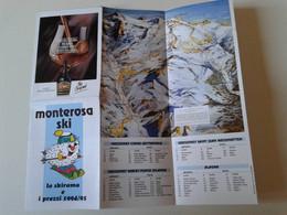 Alt1147 Skirama Area Pocket Map Mappa Piste Sci Impianti Risalita Skilift Cablecar Monterosa Ski Vintage 1994 - Invierno