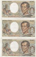 Bon Lot De 5 Billets De 200 Francs De 1981. - Kilowaar - Bankbiljetten