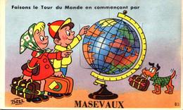 67 - Faisons Le Tour Du Monde En Commençant Par MASEVAUX - Carte à Système Avec Dépliant 10 Vues - Masevaux