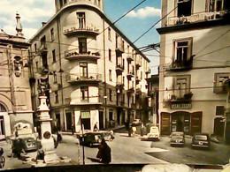 AVELLINO PIAZZA CARROZZA AUTO CAR FIAT TOPOLINO  600 APE CAR ANIMATA  SALUMERIA AQUERELLATA   VB1963  HY4487 - Avellino