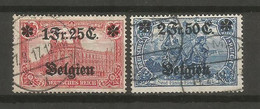 Timbre Occupation Allemagne En Oblitere N 8/9 - Zona Belga