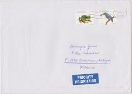 AUTRICHE OSTERREICH 2000 Enveloppe Prioritaire Vers La France Affranch. Grenouile Et Martin Pêcheur Cachet 2000 - 1991-00 Cartas