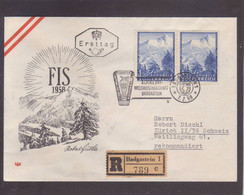 Recommandé  Badgastein  FDC  / FIS 1958 - FDC