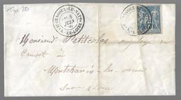 St GENGOUX LE ROYAL  : 1891 : Cachet à Date Type 20 Sur Sage 15c Bleu  ( Saône Et Loire ) : - 1877-1920: Periodo Semi Moderno
