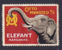 Denmark Poster Stamp  ELEPHANT - Erinnophilie