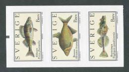 SUEDE 2001 - YT 2227/2229 - Facit 2260/2262 - Neuf ** MNH - Faune, Poissons - Ongebruikt