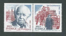 SUEDE 2001 - YT 2218/2219 - Facit 2258/2259 - Neuf ** MNH - Ivar Lo-Johansson, écrivain - Ongebruikt