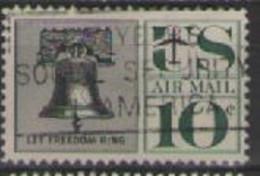 STATI UNITI D'AMERICA POSTA AEREA 1959-61 SIMBOLI DELLA LIBERTA' AMERICANA UNIF. A57 USATO VF - 2a. 1941-1960 Usados