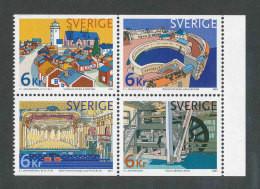 SUEDE 2001 - YT 2197/2200 - Facit 2228/2231 - Neuf ** MNH - Série Complète - Patrimoine Mondial - Ongebruikt