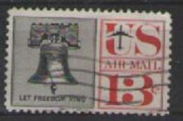 STATI UNITI D'AMERICA POSTA AEREA 1959-61 SIMBOLI DELLA LIBERTA' AMERICANA UNIF. A58 USATO VF - 2a. 1941-1960 Usados