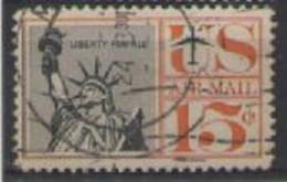 STATI UNITI D'AMERICA POSTA AEREA 1959-61 SIMBOLI DELLA LIBERTA' AMERICANA UNIF. A60 USATO VF - 2a. 1941-1960 Usados