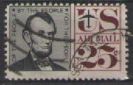 STATI UNITI D'AMERICA POSTA AEREA 1959-61 SIMBOLI DELLA LIBERTA' AMERICANA UNIF. A61 USATO VF - 2a. 1941-1960 Usados
