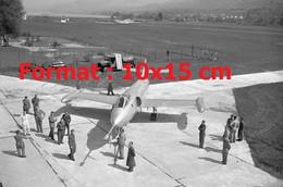 Reproduction Photographie Ancienne De L'avion De Chasse Suisse P16 à Altenrhein Suisse 1955 - Reproducciones