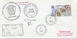 TAAF FSAT PA 71 Lettre Polaire Signée Commandant Cachet Port Aux Français Navire Marion Dufresne Drakar MD 35 1983 - Cartas
