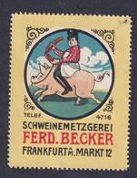 Germany Poster Stamp   PIG - Cinderellas