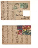3972) INTERO POSTALE Militare 1^WW 1916 Erinnofilo 3° Reggimento Telegrafi Thiene - Interi Postali