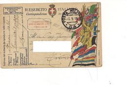 3980) Franchigia 1^ WW Posta Militare 54 1918 67° GRUPPO ASSEDIO - Franchigia