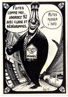 VEYRI Bernard   - JACQUES LANG PUB GRAND ANGLE - 150 EX SUR VERGE IVOIRE NATUREL - ED LDC BEDEGRAMME 1992 - Veyri, Bernard