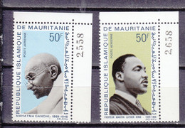 MAURITANIE FULL SET INCLUDING GANDHI  LUTHER KING - Mahatma Gandhi