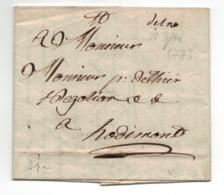 BELGIQUE - SPA Pour HODIMONT / LAC De 1773 - 1714-1794 (Oesterreichische Niederlande)