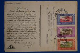 K17 WALLIS FUTUNA BELLE CARTE 1949  POUR ASNIERES FRANCE + AFFRANCH INTERESSANT - Covers & Documents