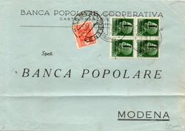 1944  LETTERA CON ANNULLO MODENA  + SEGNATASSE - Unclassified