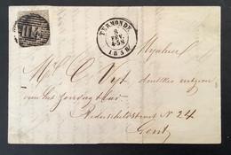 Medaillon 6 Op Brief 8 FEV 1858 P114 TERMONDE - GENT - 1851-1857 Medaglioni (6/8)