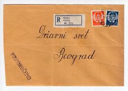 1939. KINGDOM OF YUGOSLAVIA,KROPA TO BELGRADE,REGISTERED COVER - Briefe U. Dokumente