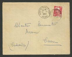 MEUSE / Cachet GARE DE BAR LE DUC / 15F Marianne De Gandon 1950 - 1921-1960: Modern Tijdperk
