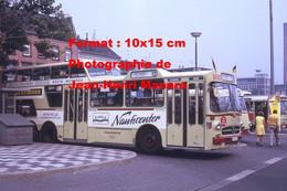ReproductionPhotographie D'un Bus Mercedes à étage Ligne 12 Moers Bahnhof Avec Publicité Nauticenter à Krefeld 1973 - Reproductions