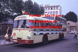 ReproductionPhotographie D'un Bus Bussing à étage Ligne 15 Willich Avec Publicité Tivoli à Krefeld Allemagne 1973 - Reproductions