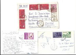 VIETNAM , LETTER  FROM DALAT - VIET-NAM  TO SUISSE -  SWITZERLAND AND 2 POSTCARD 1959 - 1966 . - Viêt-Nam