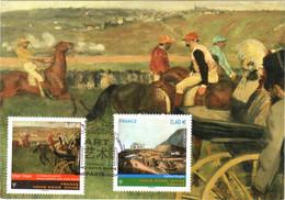 Carte Maximum YT 4650 Et 4652 Chateau Douglas Et Champ De Courses DEGAS 1er Jour 03 05 2012 TBE Paris ém Comm Hong Kong - 2010-...