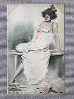 Illustrateur Henri Boutet. Serie Le Bain Nº7. Art Nouveau, Jugendstil. - Boutet