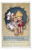 """CARD BERTIGLIA COPPIA BIMBI INNAMORATI """"NON HO AMATO CHE TE NELLA VITA""""-FP-V-2-0882-29851 - Bertiglia, A."""