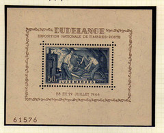 Luxembourg (1946) - BF Exposition Philathelique De Dudelange - Neuf* - MLH - Blocs & Feuillets