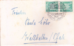 GERMAN / DEUTSCHES REICH :USED COVER : YEAR 1926 : SPECIAL CANCELLATION : JDAR [NAHE], HAUPTSITZDER, EDELSTEIN JNDUSTRIE - Storia Postale