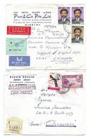 ETHIOPIA , 4 LETTERS FROM MASSAWA - MASSAUA TO ITALY , 1965 - 1974 . - Ethiopië