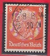 """DR  517 I, Gestempelt, Hindenburg 1933, """"D"""" Oben Offen - Engraving Errors"""