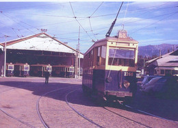 Tram 1266 Ligne 68 Quittant Le Depot A Marseille En 1963 -  15x10cms  PHOTO - Tram