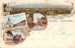Gruß Aus Gross - Ostheim Mehrbild Litho 1907 - Greetings From...
