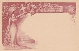 INTERO POSTALE C.10 NOZZE 1896 NUOVO ROSSO MATTONE (HC638 - Postwaardestukken