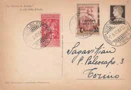 CARTOLINA 1942 ANNULLO GIORNATA DEL FRANCOBOLLO-AFFRANCATURA ITALIA SAN MARINO (HC727 - Marcofilie