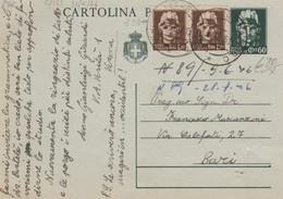 INTERO POSTALE C.60 +2X1,20 L. 1946  (HC765 - Postwaardestukken