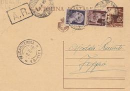 INTERO POSTALE L.1,20 + 2+ 1 LUOGOTENENZA - 1946 -TIMBRO PESCASSEROLI (HC844 - Marcofilie