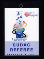 Croatia Zagreb 2008 / Basketball Handball Football Volleyball / REFEREE Accreditation / 5 Cities Tournament - Altri