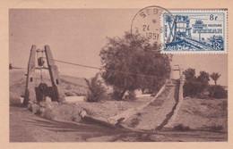 Territoire De FEZZAN  CM SEBHA 24/06/1951 Puits Antiques    Yt 47 ( MAXIMUM CARD ) - Oblitérés